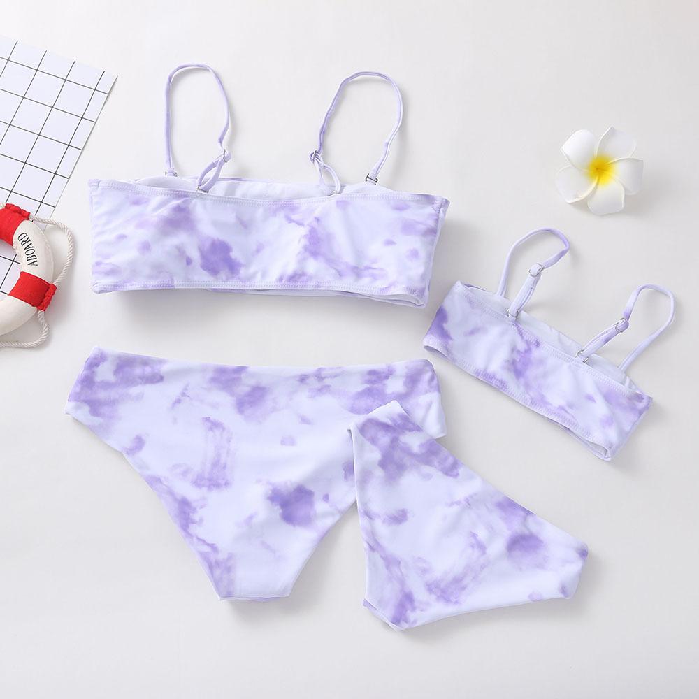 product-Ruiteng-Fashion Swimwear Tie Dyed Bikini Beach Set Family Wear Mom Daughter-img