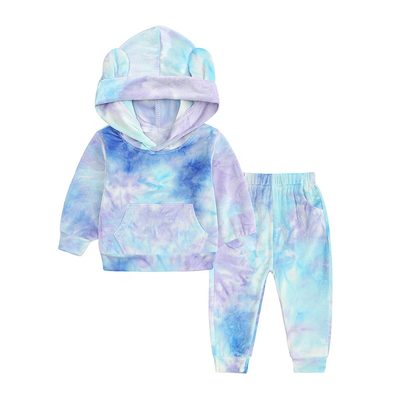 product-Ruiteng-Baby New Arrivals Unisex Hoodies Set Colorful Tie Dyed Fashion Wear-img