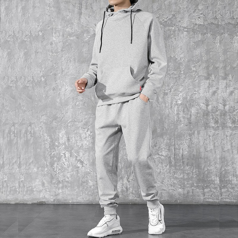 product-Ruiteng-Men′ S Casual Cotton 2 Pieces Tracksuit Zipper Hoodies Coat Jogger Set-img