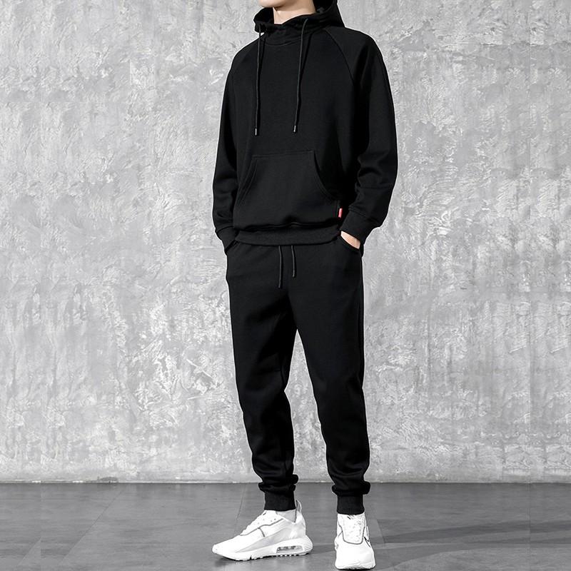 product-Men′ S Casual Cotton 2 Pieces Tracksuit Zipper Hoodies Coat Jogger Set-Ruiteng-img