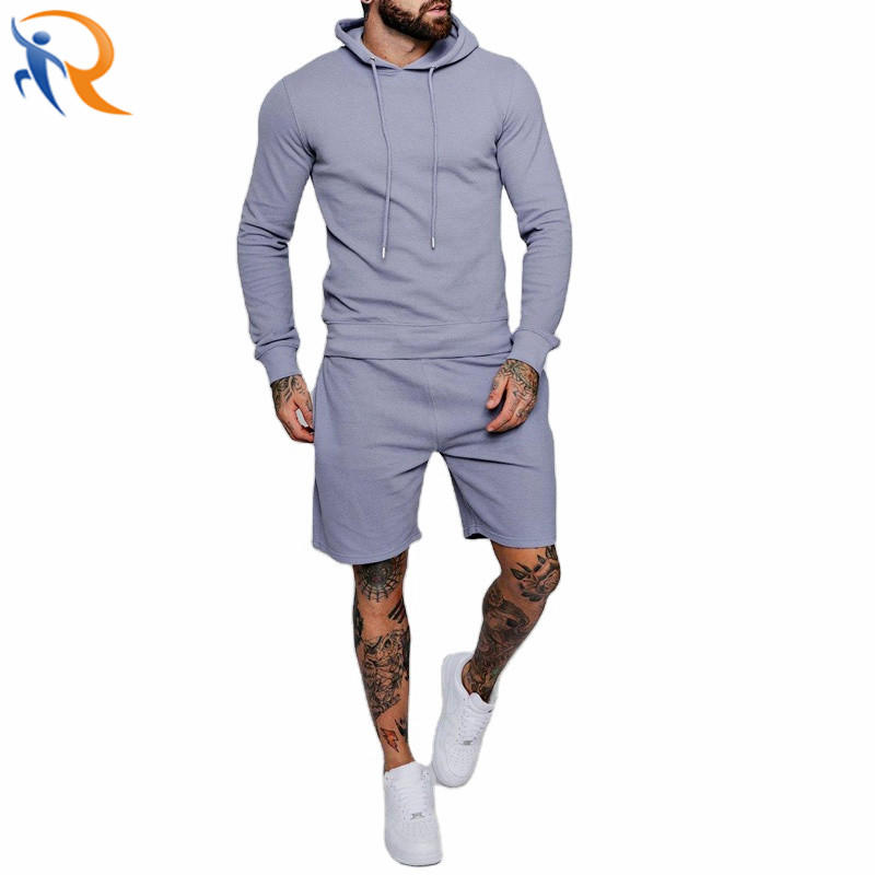Customized Men′s Jogger Set Tracksuit Two Pieces Hoodies Shorts