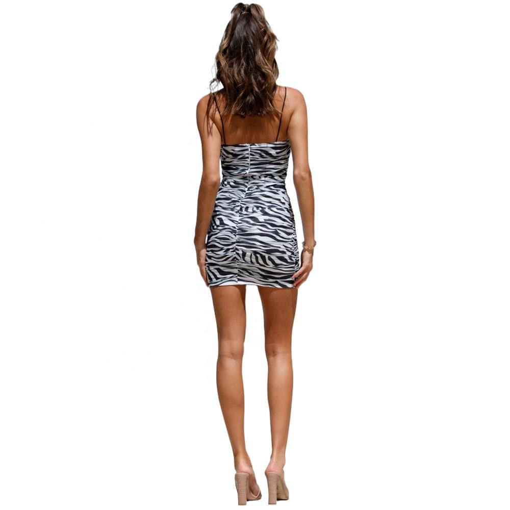product-2021 Wholesale Fashion Sexy Strap Zebra Pattern Lady Elegant Sleeveless Dress-Ruiteng-img
