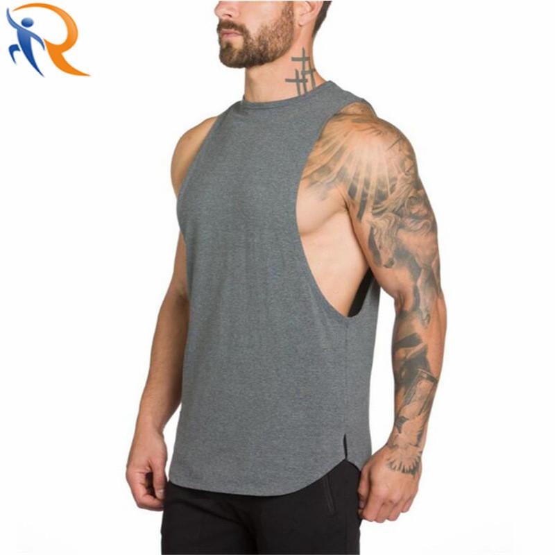 Men Gym Wear Sportswear Quick Dry Workout Sleeveless Vest Singlet