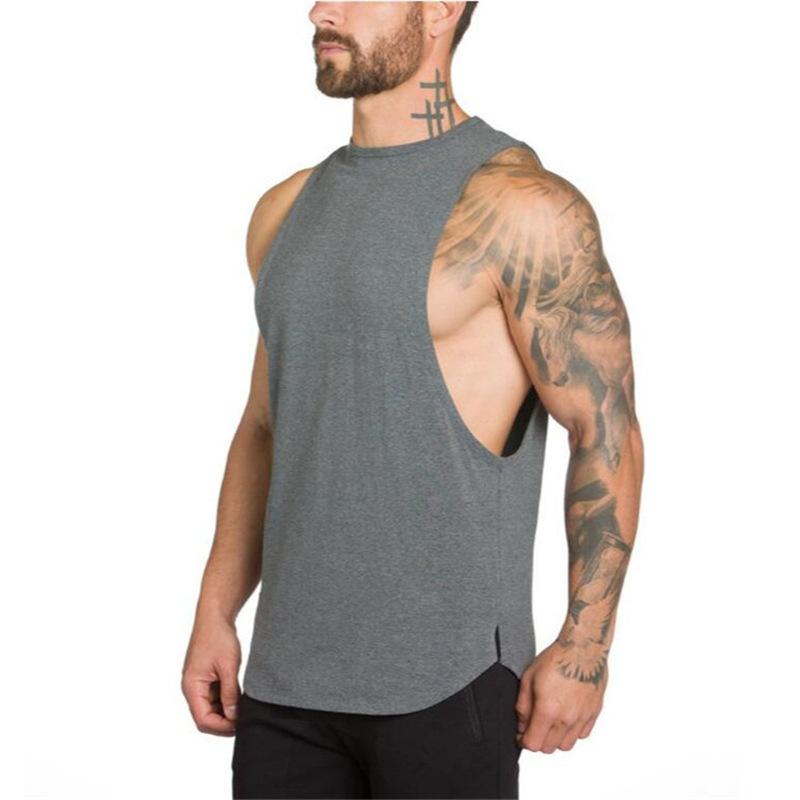 product-Men Gym Wear Sportswear Quick Dry Workout Sleeveless Vest Singlet-Ruiteng-img