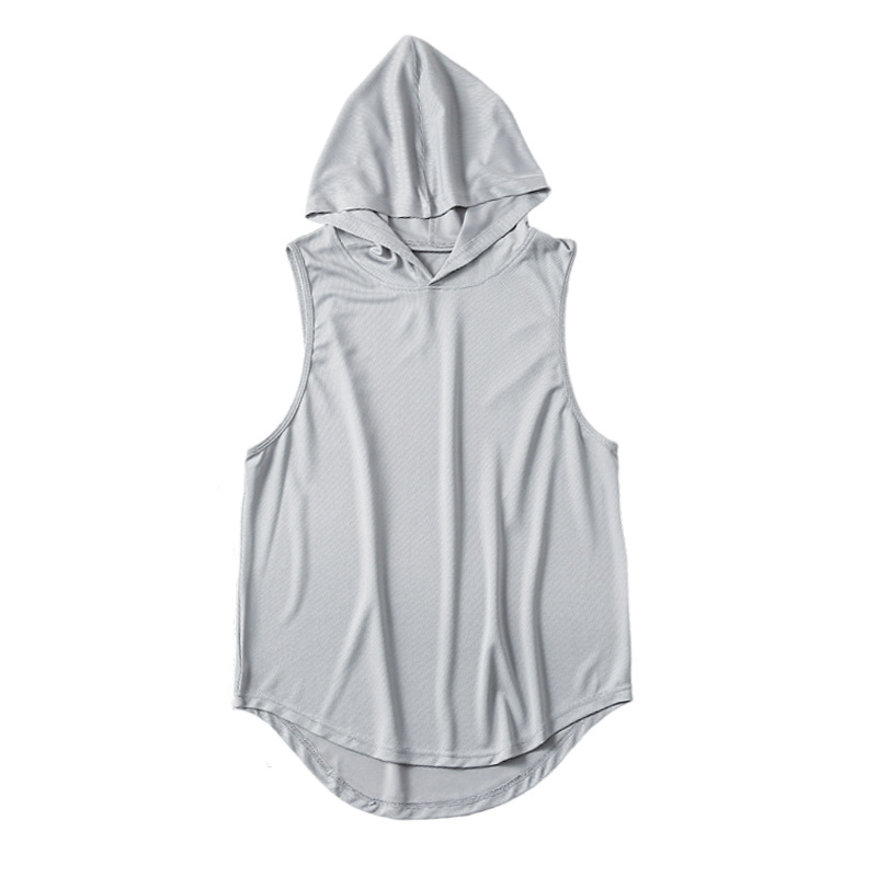 product-Ruiteng-Wholesale Men Workout Breathable Quick Dry Gym Hoodies Sleeveless Vest-img