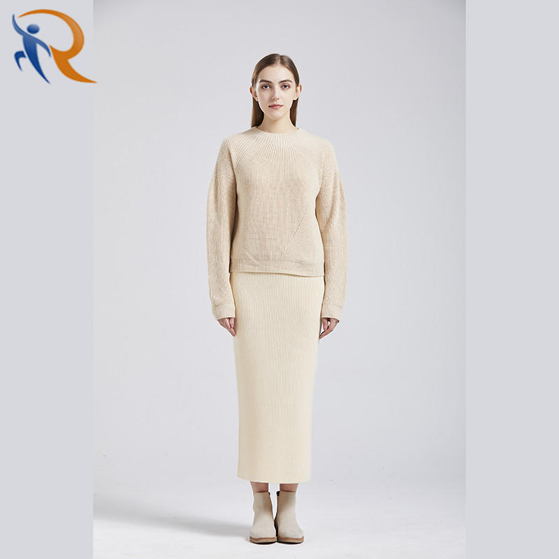 Pullover Loose Panel Butterfly Cable Chunky Knit Cashmere Logo Women Sweater