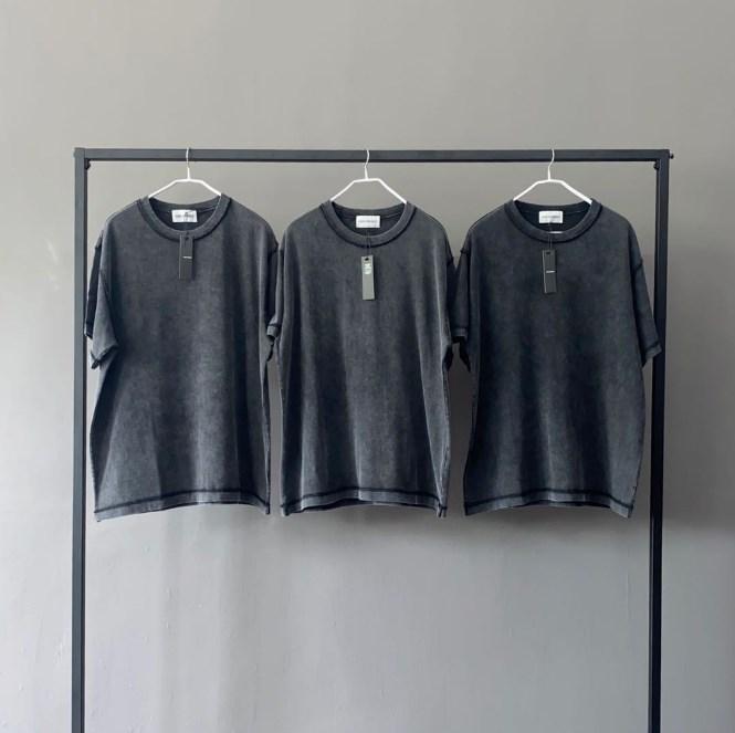 product-Short Sleeve Cotton Embroidered Blank Washed Oversize Vintage T-Shirt-Ruiteng-img
