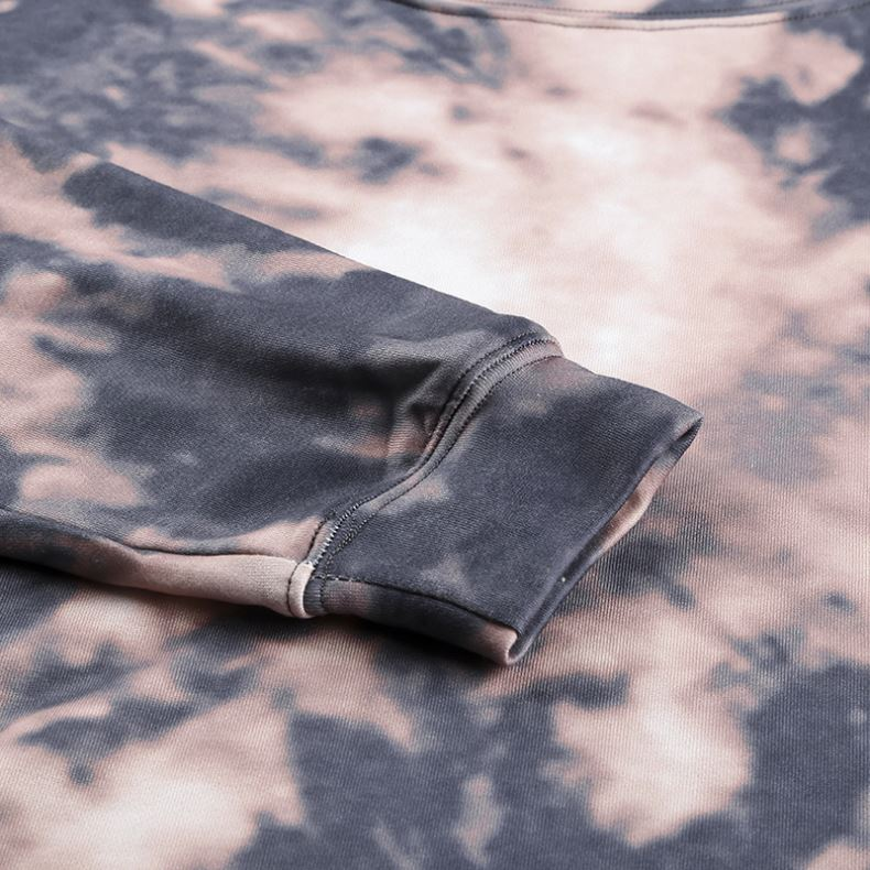 product-Ruiteng-2021 Vintage Tie Dye Printed Oversized Long Sleeve Women Knitted Sweatshirt-img