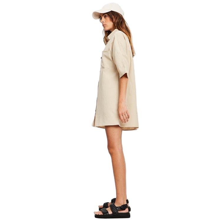 product-Women Fashion Style T-Shirt V Neck Loose Straight Dress-Ruiteng-img