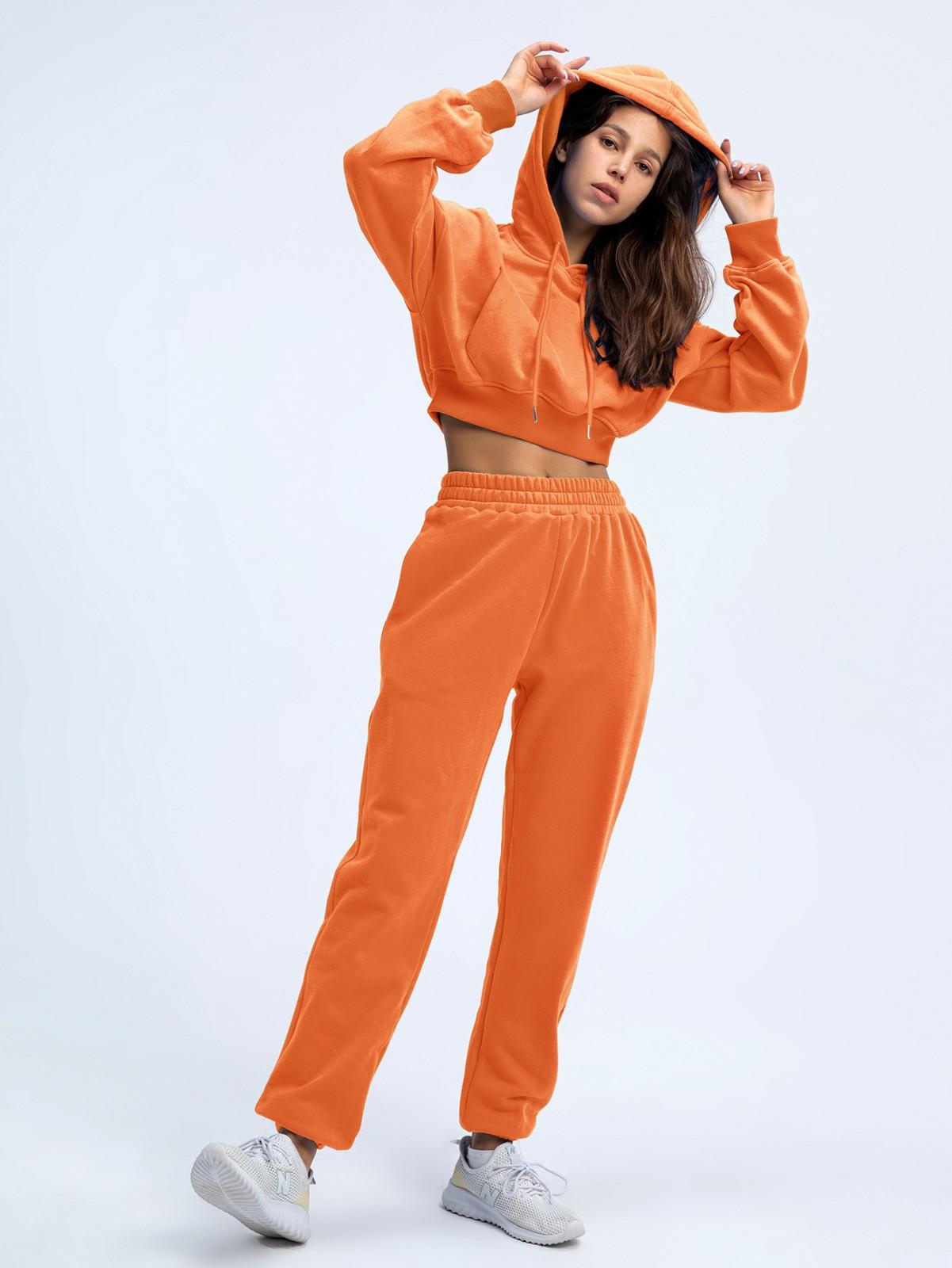 product-Ruiteng-Wholesale Women High Quality Sweatshirt Suit Hoodies Long Sleeve Crop Suit-img