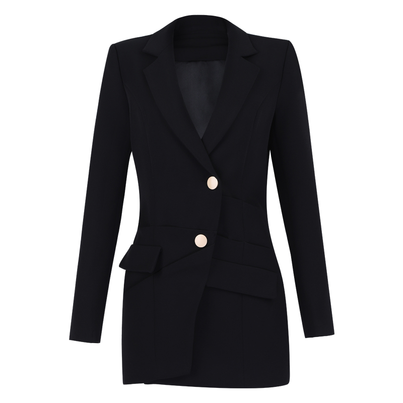 product-Ruiteng-Wholesale Fashion Suit Clothes Blouse Formal Black Office Lady Coat-img