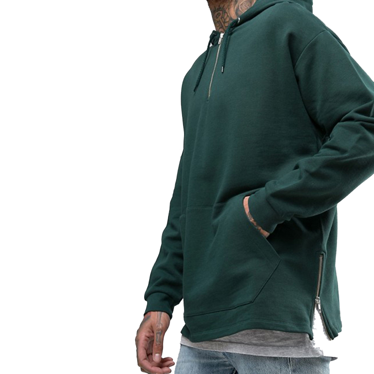 product-Men Women Fashion Solid Color Pullover Half Zipper Hoodies-Ruiteng-img