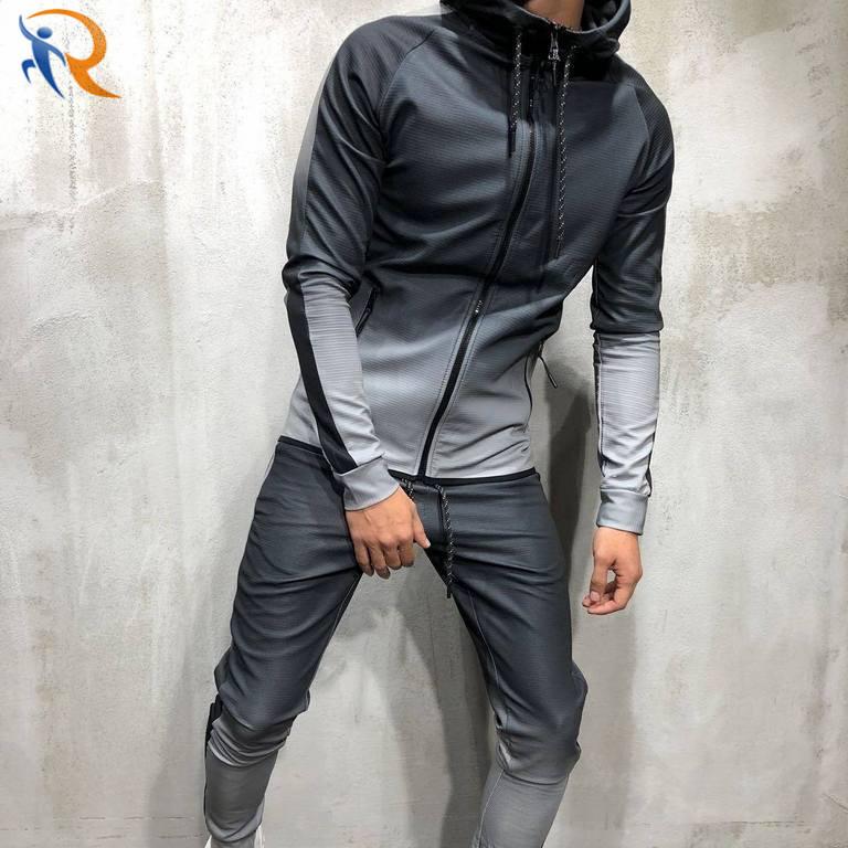 Men Wholesale Gym Fitness Wear 2 Piece Tracksuit Sport Jogging Set