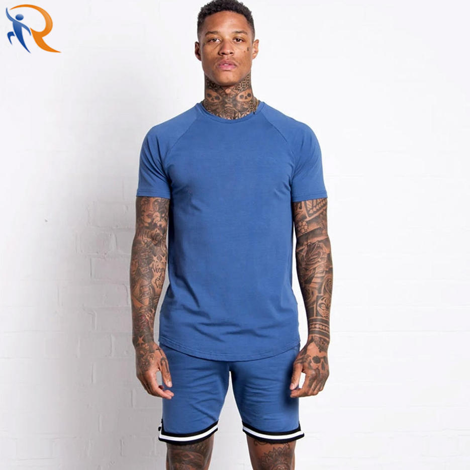 Men Casual Clothes Summer 2 Piece Set Sports Suits Shirts and Shorts