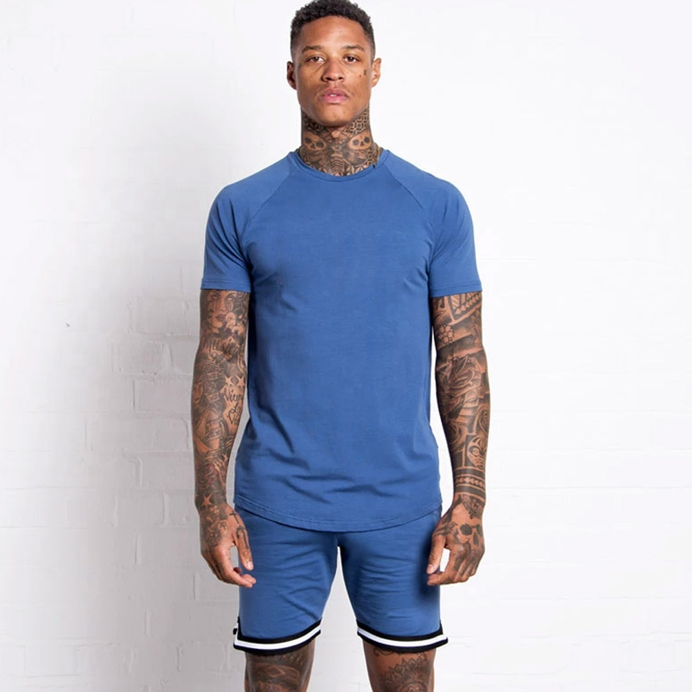 product-Ruiteng-Men Casual Clothes Summer 2 Piece Set Sports Suits Shirts and Shorts-img