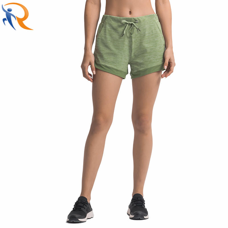 Women′s Workout Running Sports Shorts with Pocket Shorts for Short Athletic Bottoms