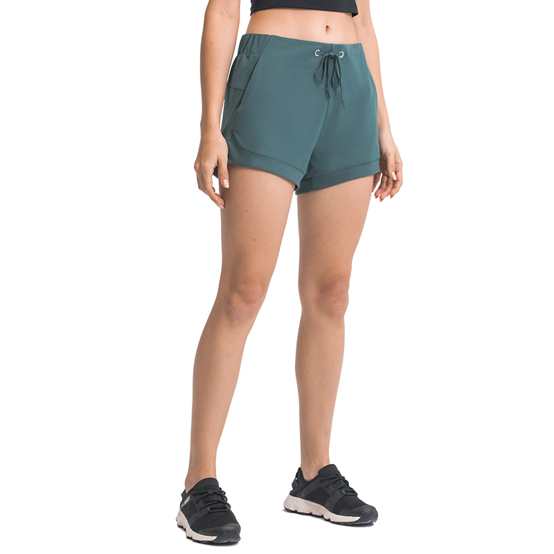 product-Women′s Workout Running Sports Shorts with Pocket Shorts for Short Athletic Bottoms-Ruiteng-