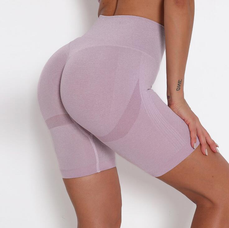 product-Ruiteng-2021 Hot Sale Yoga Short Pants High Waist Yoga for Women Tummy Control Bottom Butt L