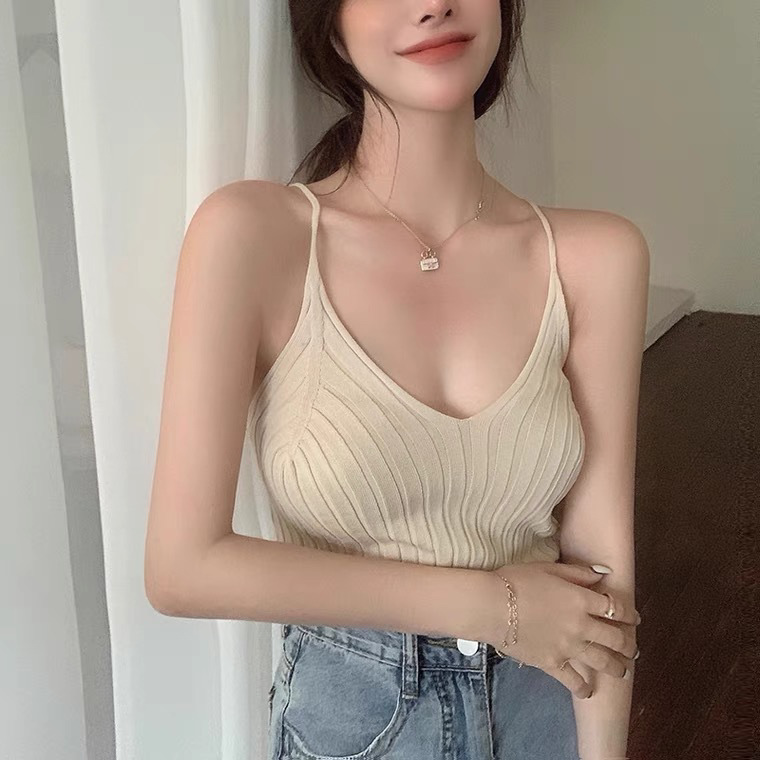 product-Ruiteng-Summer New Knitted Slim Tank Top Woman Ladies T-shirt Lady Top Free Size-img