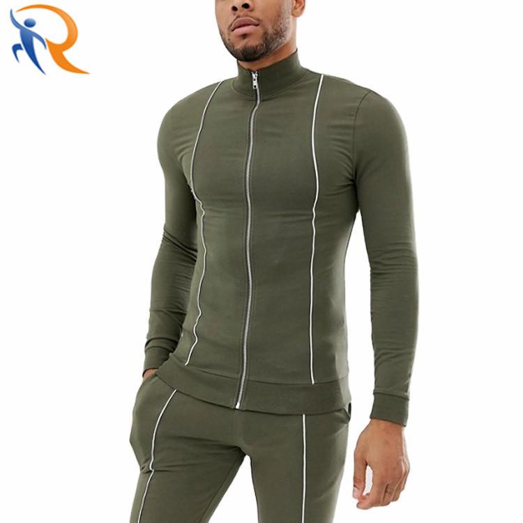Wholesale Hoodie Reflective Suits Custom Fashion Windbreaker Mens Tracksuit