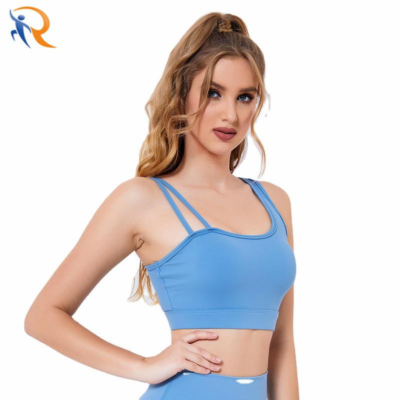 Women Fashion Irregular Sport Bra Fitness Top Gym Fitness Crop Top Push Up Sports Bra