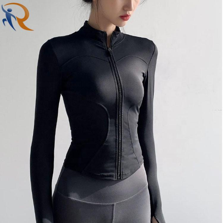 Women Slim Fit Tracksuit Workout Top Training Jackets Zipper Yoga Sports Coat