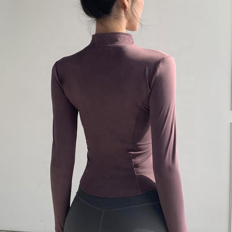 product-Ruiteng-Women Slim Fit Tracksuit Workout Top Training Jackets Zipper Yoga Sports Coat-img