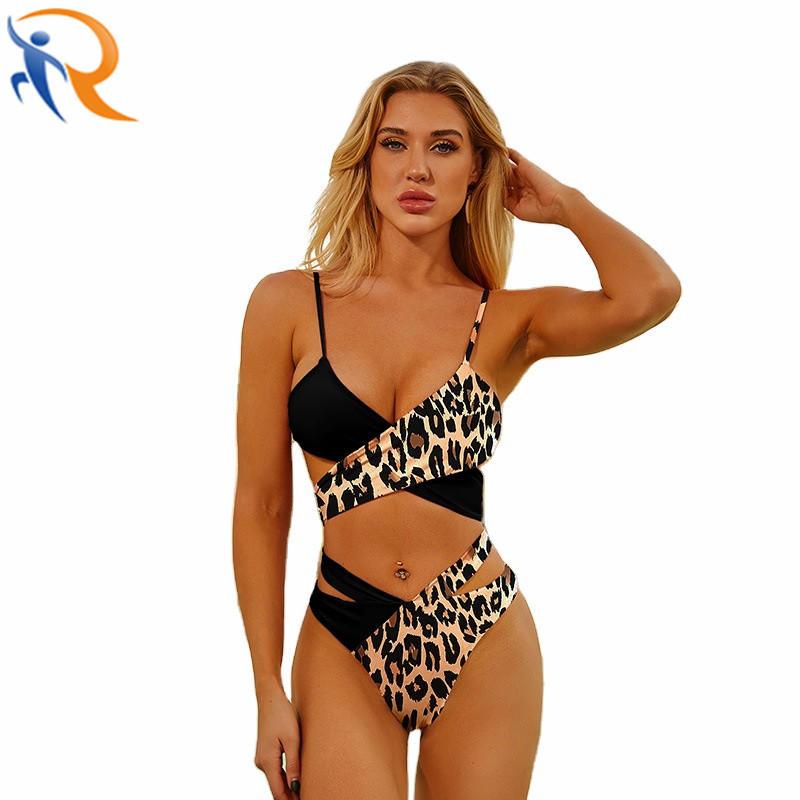 New Design Wholesale Sexy Leopard High Waist Swim Wear Bikini Beach Set