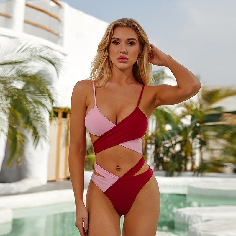 product-New Design Wholesale Sexy Leopard High Waist Swim Wear Bikini Beach Set-Ruiteng-img
