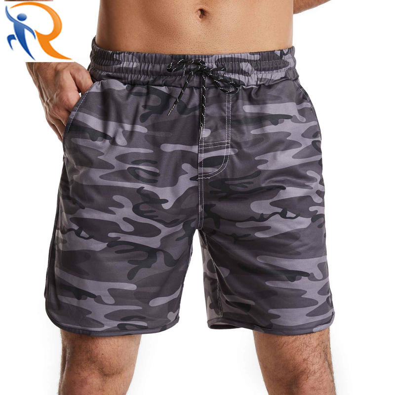 Customized Camouflage Sublimation Drawstring Sports Short for Men Beach Short