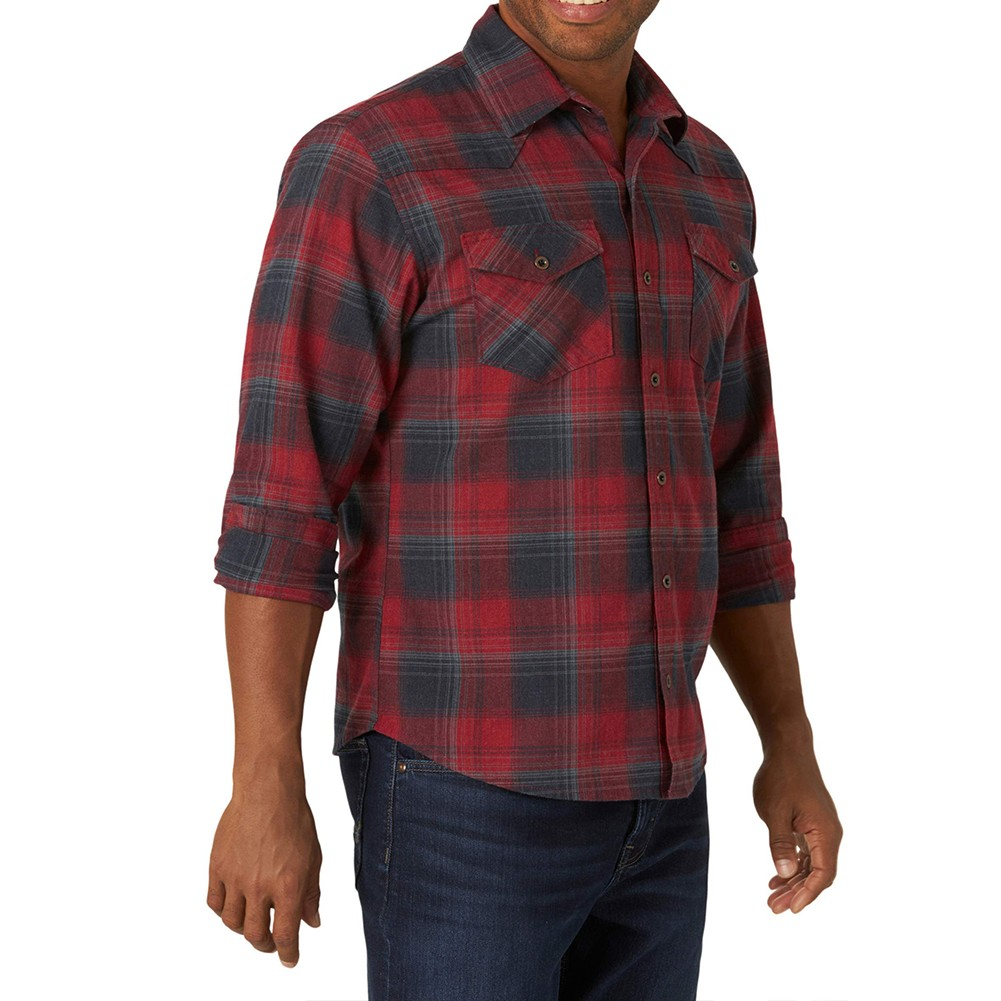 product-Ruiteng-Male Breathable Casual Flannel Shirts Long Sleeve Polyester Shirts with Buttons-img