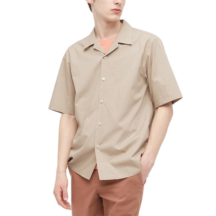 product-Ruiteng-100 Cotton Custom Design Camp Collar Short Sleeve Button Up Vacation Men Shirts-img