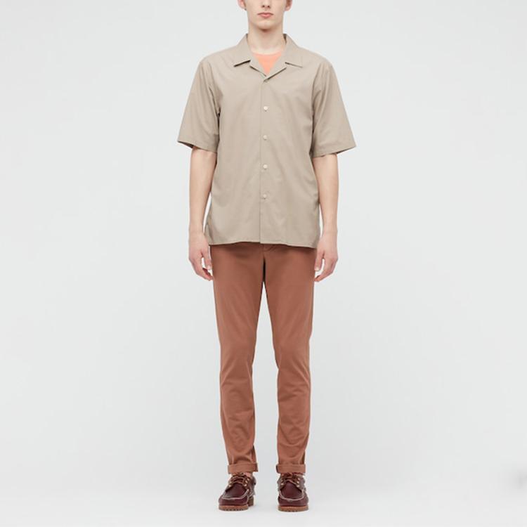 product-100 Cotton Custom Design Camp Collar Short Sleeve Button Up Vacation Men Shirts-Ruiteng-img