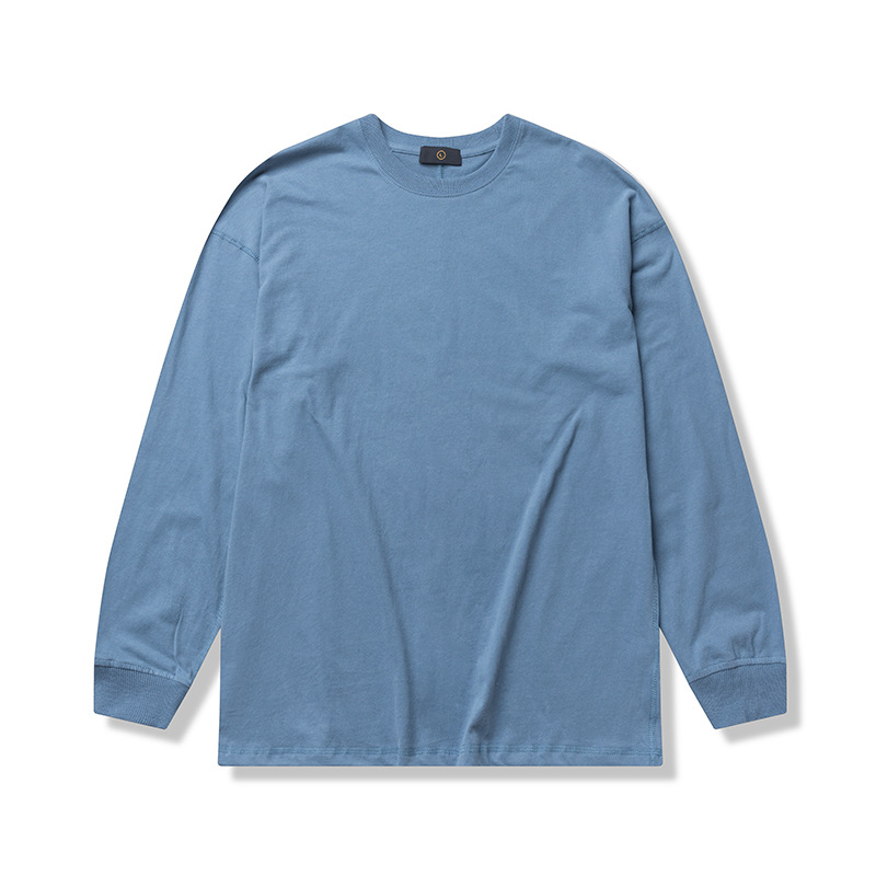 product-Ruiteng-New Simple Design Solid Color Customized Long Sleeve Oversize Unisex T-shirt-img
