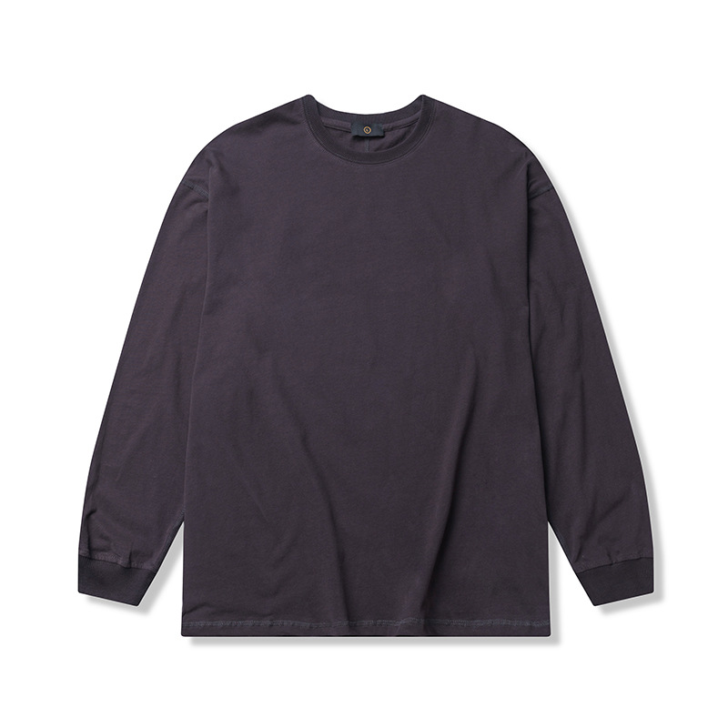 product-New Simple Design Solid Color Customized Long Sleeve Oversize Unisex T-shirt-Ruiteng-img