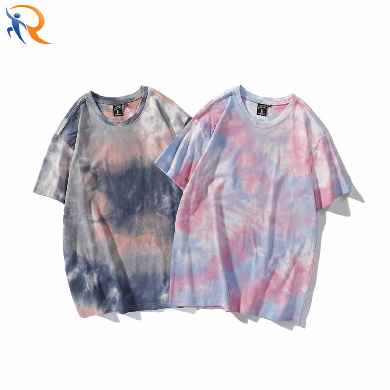 New Casual Streetwear Tie Dyed Oversize Pullover T-shirt for Women