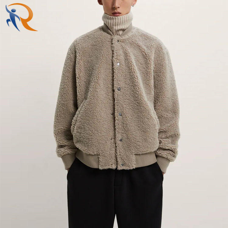 Wholesale Blank Autumn Polyester Woolen Fur Fleece Jacket Coat