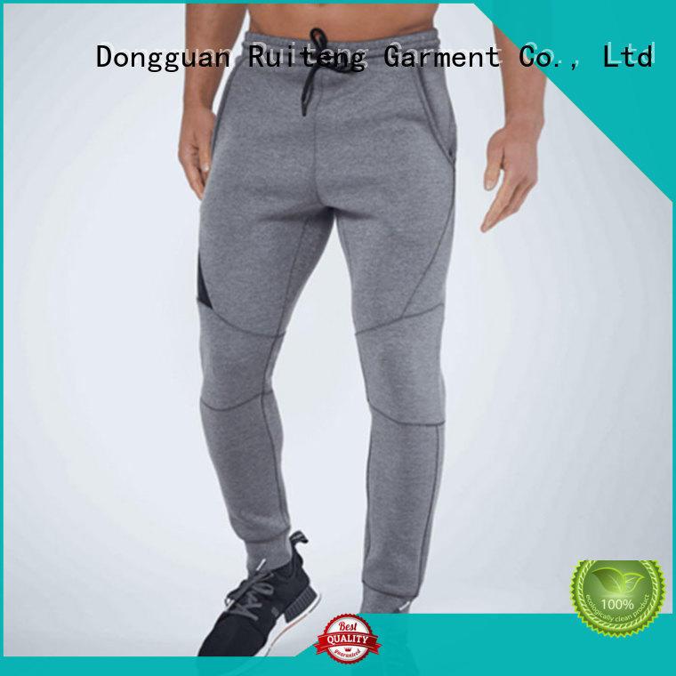 Quality Ruiteng Brand mens grey skinny joggers slim gym