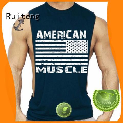 apparel quality fitness OEM mens tank tops cheap Ruiteng