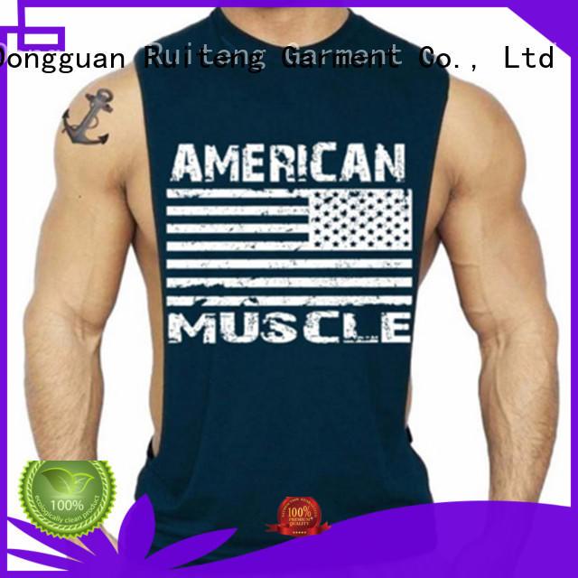 soft mens muscle tank tops singlet Ruiteng company