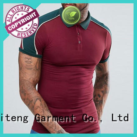 Ruiteng mens polo shorts company for gym