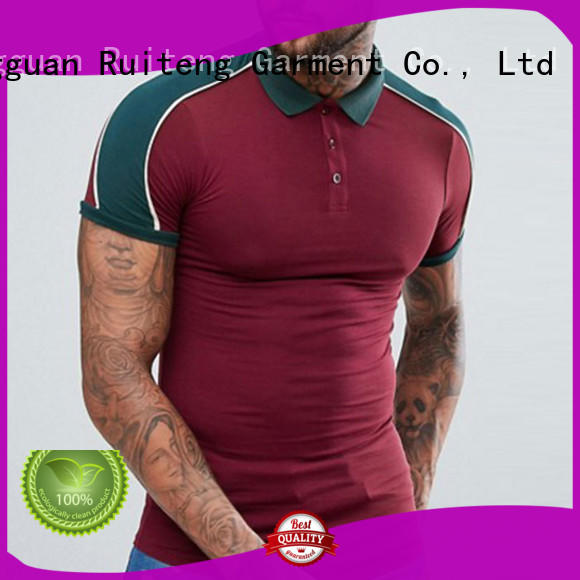 Ruiteng approved polo tee shirts factory price for sports