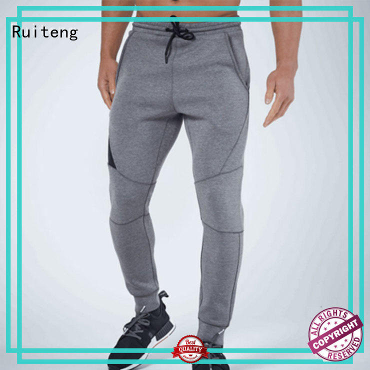 Ruiteng mens skinny tracksuit customized for gym