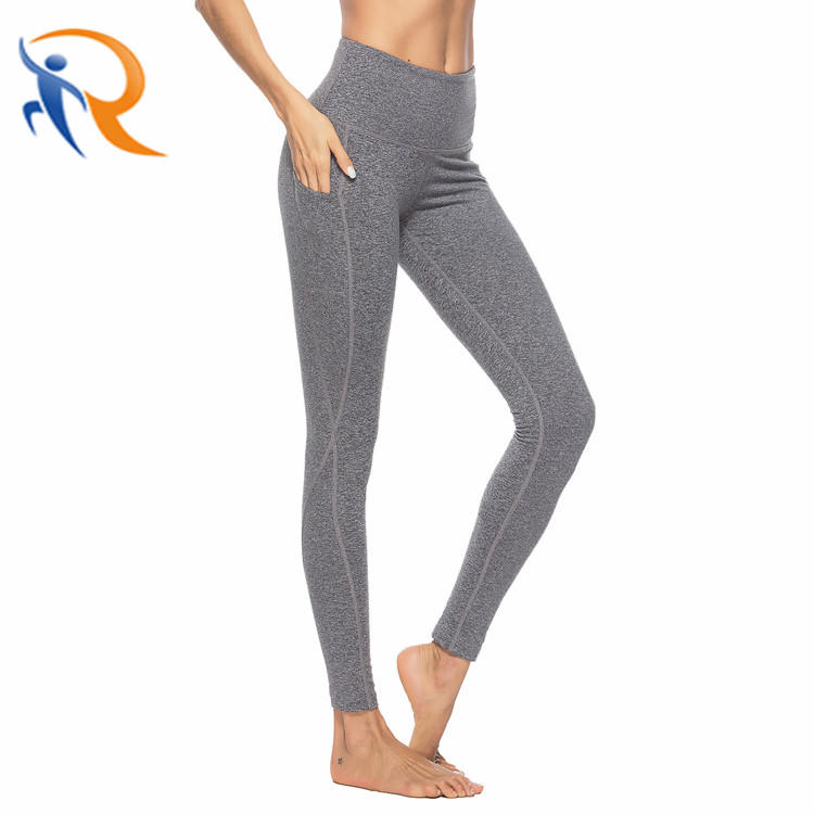 Wholesales Gym Tummy Control High Waist Custom Workout Leggings Women Fitness Yoga Pants with Pockets