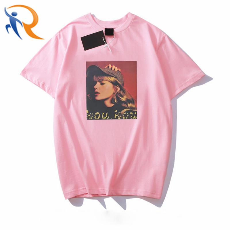 High Quality Wholesale Custom Polyester Cotton Women Tshirt