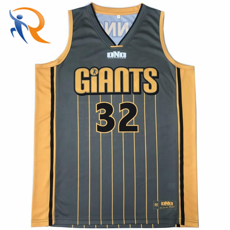 Best Blank Reversible Sublimazione Basketball Jersey Singlet with Numbers