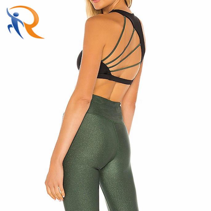 Customize Fitness Yoga Wear Sexy Crop Top Gym High Impact Fitness Yoga Bra