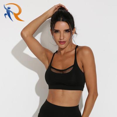 Mesh Breathable Yoga Bra Tops Fitness Women Shockproof Sports Bra