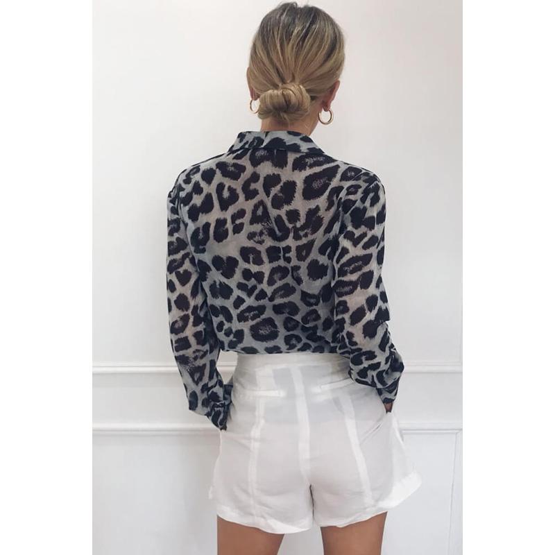 product-Ruiteng-Fashion Women Long Sleeve Tops Turn-Down Collar Leopard Print Chiffon Shirt-img