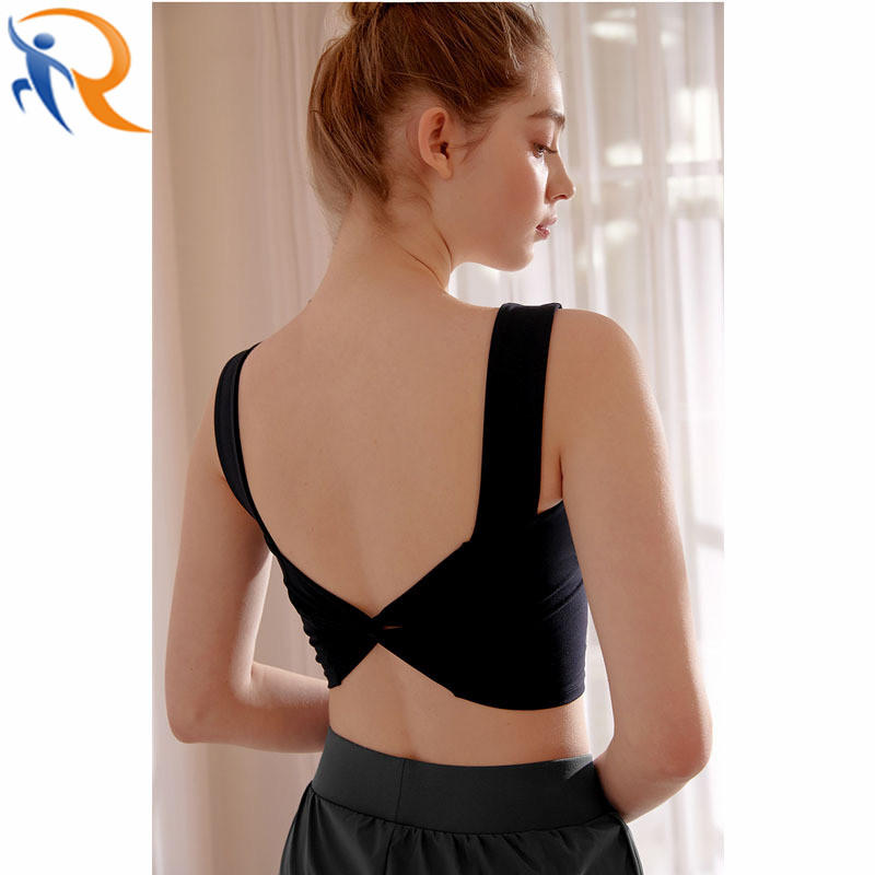 New Design Ladies High Support Cross Back Push up Sport Bra Workout Fitness Bra Padded Yoga Tops